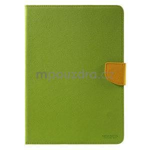 Diary peňaženkové puzdro na iPad Air - zelené - 2