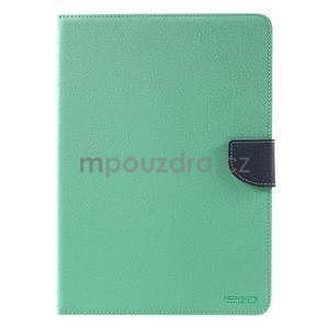 Diary peňaženkové puzdro na iPad Air - azúrové - 2