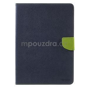 Diary peňaženkové puzdro na iPad Air - tmavomodré - 2