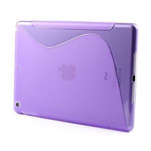 S-line gélový ochranný obal na iPad Air - fialový - 2