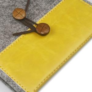 Envelope univerzálne púzdro na tablet 22 x 16 cm - žlté - 2