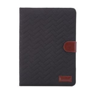 Texture luxusné puzdro pre iPad Mini 3, iPad Mini 2 a iPad Mini - čierne - 2