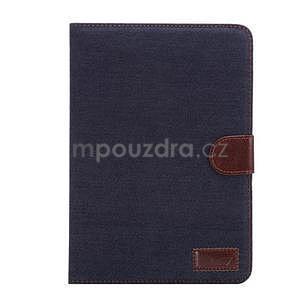 Jeans luxusné puzdro na iPad Mini 3, iPad Mini 2 a iPad Mini - čiernomodré - 2