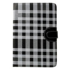 Kockované puzdro na Apple iPad Mini 3, iPad Mini 2 a iPad Mini - čierne - 2