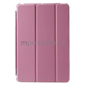 Classic troj polohové puzdro pre iPad Mini 3, ipad Mini 2 a na iPad Mini -  ružové - 2