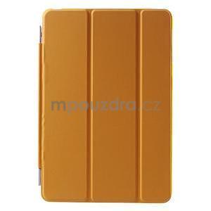 Classic troj polohové puzdro pre iPad Mini 3, ipad Mini 2 a na iPad Mini -  oranžová - 2