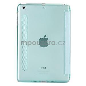 Lines polohovateľné puzdro na iPad Mini 3 / iPad Mini 2 / iPad mini - cyan - 2