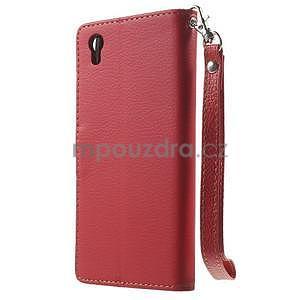 Supreme peňaženkové puzdro pre Lenovo P70 - červené/hnedé - 2