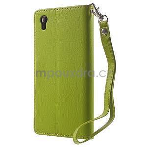 Supreme peňaženkové puzdro na Lenovo P70 - zelené/hnedé - 2