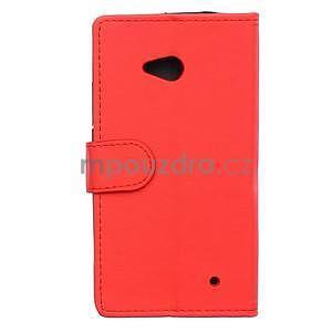 Ochranné peňaženkové puzdro Microsoft Lumia 640 - červené - 2