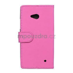 Ochranné peňaženkové puzdro Microsoft Lumia 640 - rose - 2