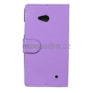 Ochranné peňaženkové puzdro Microsoft Lumia 640 - fialové - 2