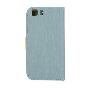 Clothy PU kožené pouzdro na mobil Doogee X5 - světlemodré - 2