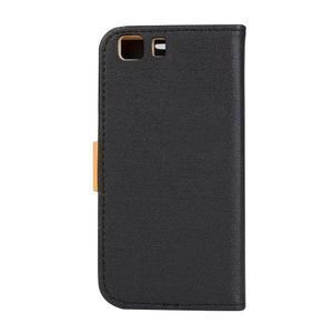Clothy PU kožené puzdro pre mobil Doogee X5 - čierne - 2