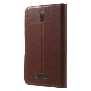 Horse peňaženkové puzdro pre Lenovo A2010 - hnedé - 2