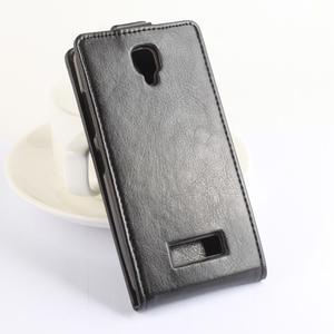 Flipové puzdro pre mobil Lenovo A2010 - hnedé - 2