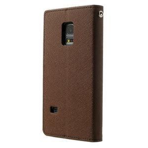 Diary PU kožené puzdro pre Samsung Galaxy S5 mini - hnedé - 2