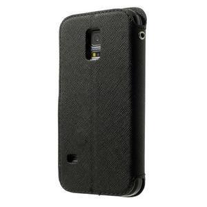 Peňaženkové puzdro s okienkom pro Samsung Galaxy S5 mini -  čierne - 2
