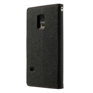 Diary PU kožené puzdro pre Samsung Galaxy S5 mini - čierne/hnedé - 2
