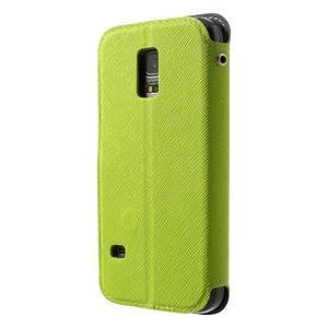 Peňaženkové puzdro s okienkom pro Samsung Galaxy S5 mini -  zelené - 2