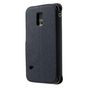 Pěněženkové pouzdro s okýnkem pro Samsung Galaxy S5 mini -  tmavěmodré - 2