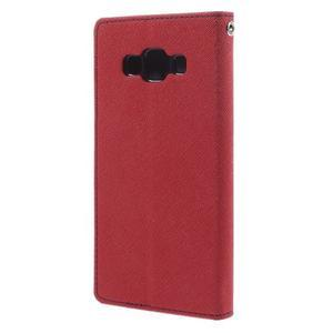 Mr. Fancy koženkové puzdro na Samsung Galaxy A5 - červené - 2