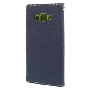 Mr. Fancy koženkové puzdro na Samsung Galaxy A5 - tmavo modré - 2