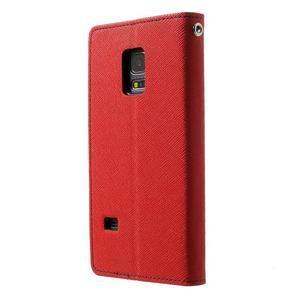 Diary PU kožené pouzdro na Samsung Galaxy S5 mini - červené - 2