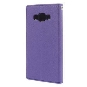 Mr. Fancy koženkové puzdro na Samsung Galaxy A5 - fialové - 2