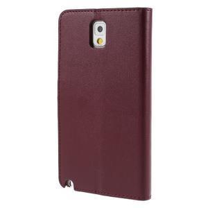 Setsnow PU kožené puzdro na Samsung Galaxy Note 3 - vínové - 2