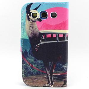 Peňaženkové puzdro pre mobil Samsung Galaxy S3 - lama - 2