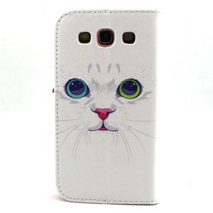 Peňaženkové puzdro pre mobil Samsung Galaxy S3 - mačička - 2