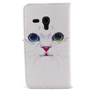 Fun peněženko puzdro na Samsung Galaxy S3 mini - kočička - 2