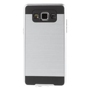 Hybridní gélové/plastové puzdro na Samsung Galaxy A5 - strieborné - 2