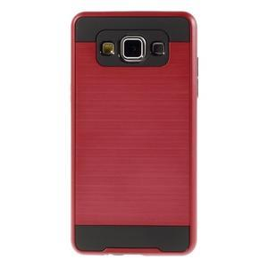 Hybridní gélové/plastové puzdro na Samsung Galaxy A5 - červené - 2