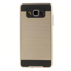 Hybridné gélové/plastové puzdro pre Samsung Galaxy A5 - zlaté - 2