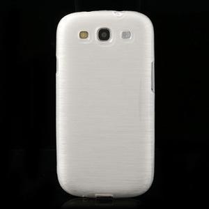 Brush gélový kryt na Samsung Galaxy S III / Galaxy S3 - biely - 2