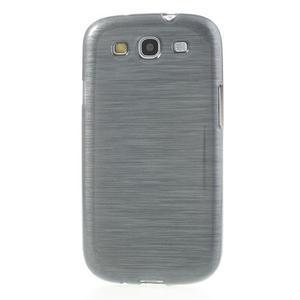 Brush gélový kryt na Samsung Galaxy S III / Galaxy S3 - šedý - 2