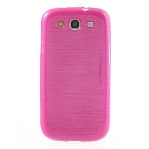 Brush gélový kryt na Samsung Galaxy S III / Galaxy S3 - rose - 2