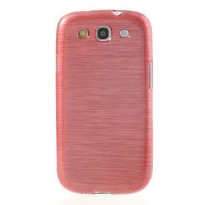 Brush gélový kryt pre Samsung Galaxy S III / Galaxy S3 - ružový - 2