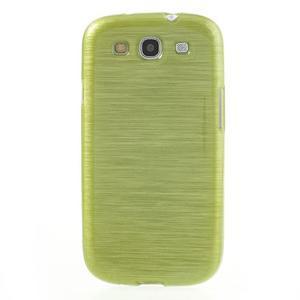 Brush gélový kryt pre Samsung Galaxy S III / Galaxy S3 - zelený - 2