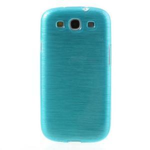 Brush gélový kryt na Samsung Galaxy S III / Galaxy S3 - modrý - 2