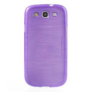 Brush gélový kryt na Samsung Galaxy S III / Galaxy S3 - fialový - 2