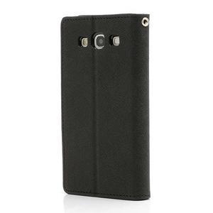 Mr. Fancy koženkové puzdro na Samsung Galaxy S3 - čierné - 2