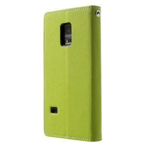 Diary PU kožené puzdro pre Samsung Galaxy S5 mini - zelené - 2