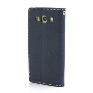 Mr. Fancy koženkové puzdro pre Samsung Galaxy S3 - tmavo modré - 2