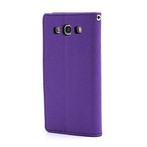 Mr. Fancy koženkové puzdro pre Samsung Galaxy S3 - fialové - 2
