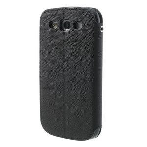 Peňaženkové puzdro s okýnkem pre Samsung Galaxy S3 / S III - čierné - 2