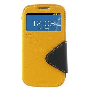 Peňaženkové puzdro s okienkom pre Samsung Galaxy S3 / S III - žlté - 2