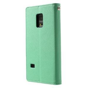 Diary PU kožené puzdro pre Samsung Galaxy S5 mini - azúrové - 2